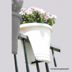 Geländer-Blumentopf, weiss,...