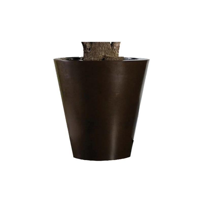 Pflanzkübel, rost, glänzend, H: 40cm